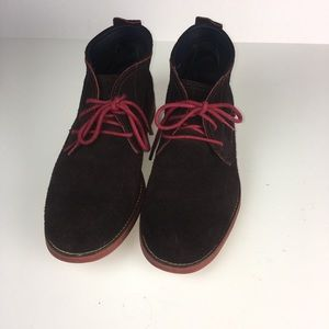 online store 40587 07f49 COLE HAAN Brown Suede Red Sole Chukka Mens 9.5M